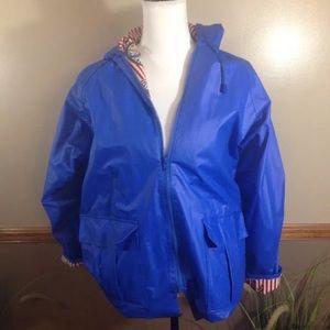 4fa7cf531e4a0 Misty Harbor Womens PVC Raincoat Blue Vinyl Hooded